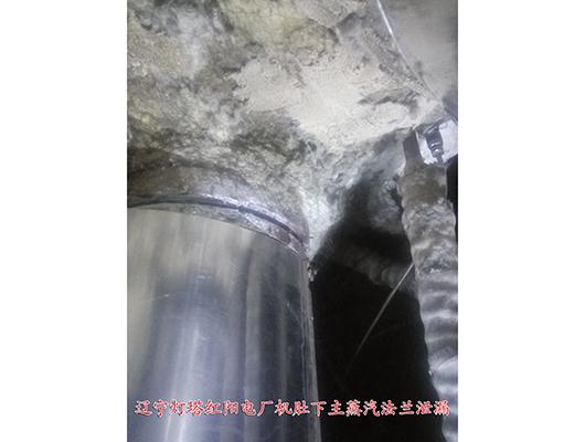 辽宁灯塔红阳电厂机肚下主蒸汽法兰泄漏