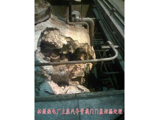 松源热电厂主蒸汽导管截门门盖泄露处理